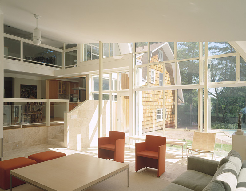 Split Level Living Room Furniture Placement