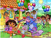 Game xếp hình Dora, game xep hinh hay