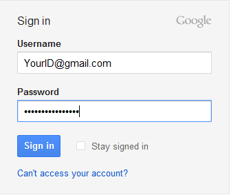 Steps 2 - Sign into www.gmail.com