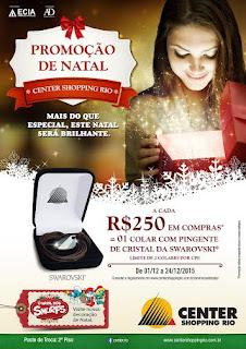 Center Shopping Rio promove campanha promocional de Natal
