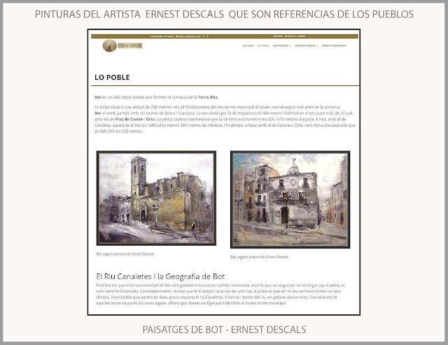 BOT-PINTURA-CA LA LEONOR-PINTURES-ERNEST DESCALS-PAISATGES-TERRA ALTA-CASES RURALS-POBLES-TARRAGONA-CATALUNYA-