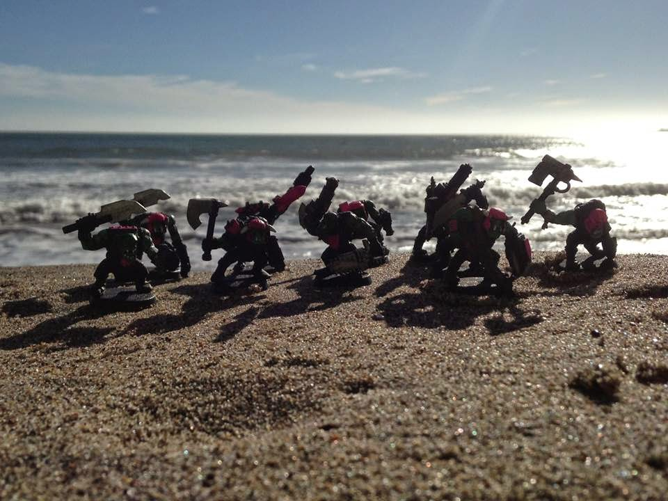 Battle Gaming One Pink Orks Orkys Morooned Marooned