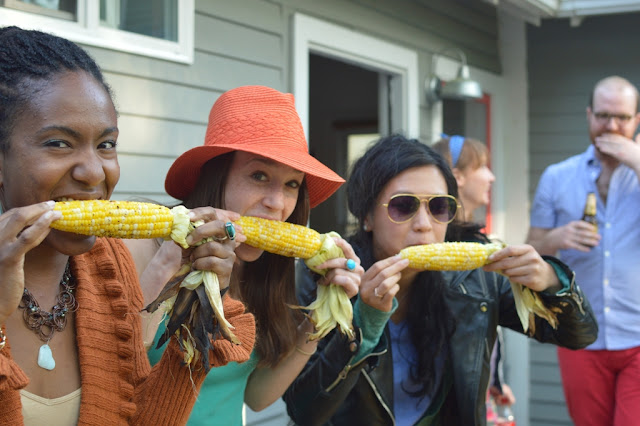 Eating corn 2 - Impromptu BBQ - The City Dweller