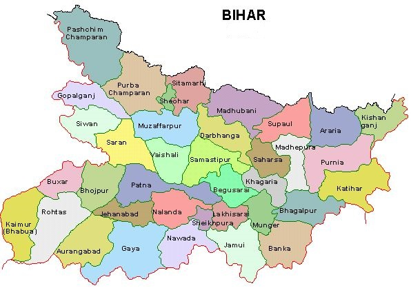 Bihar Map,Bihar district maps,state of bihar map