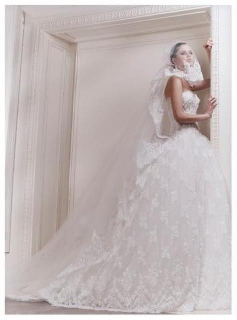 Elegant Bride By Zuhair Murad Wedding Veil Dresses 2013