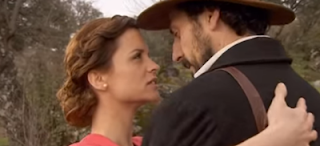 Alicia e Conrado bacio Il segreto