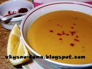 Чечевичный суп (мерджимек чорбасы). Турецкая кухня.