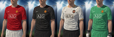 PES 2016 Manchester United 2007/08 Kits by Swoosh1968