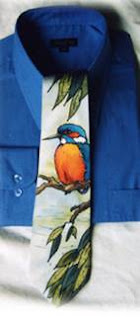 a colourful and stylish kingfisher tie