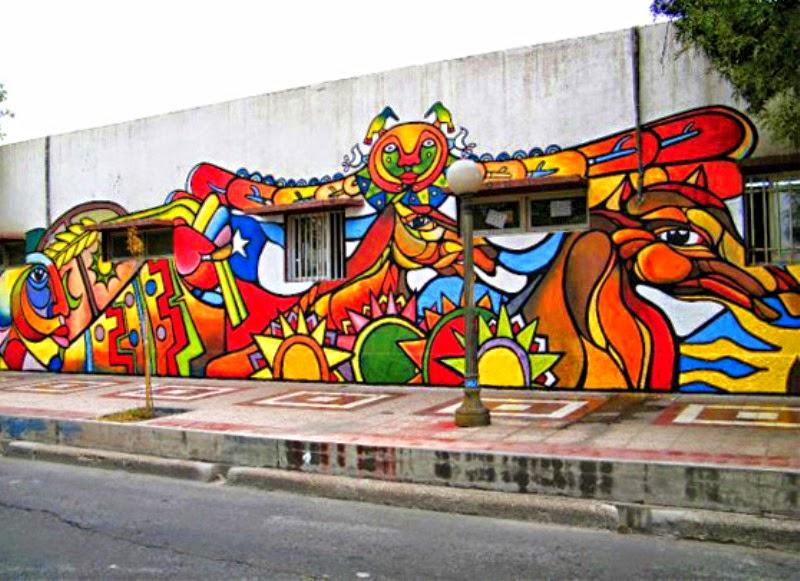 Cuadros modernos im genes de murales politicos chilenos for Murales faciles y creativos