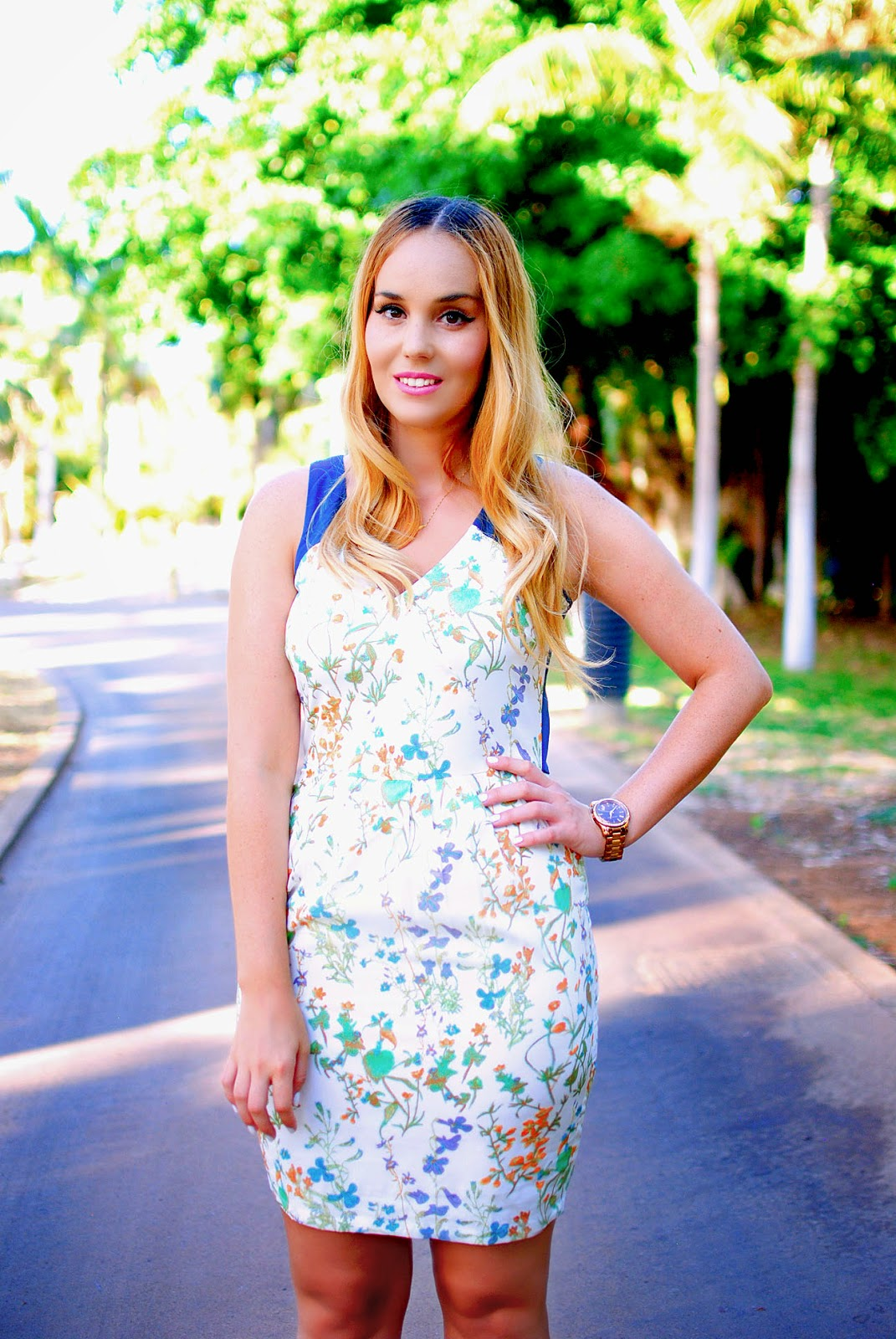 Nery hdez, botanical dress, sugarhill boutique, print floral