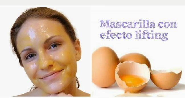Mascarilla de huevo con efecto lifting