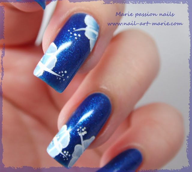 nail art one stroke double accent nail6