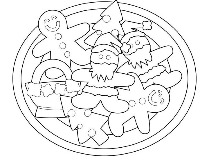Christmas Cookies Coloring Pages title=