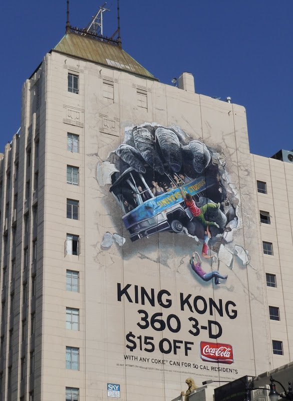 King Kong 360 3D Coke billboard