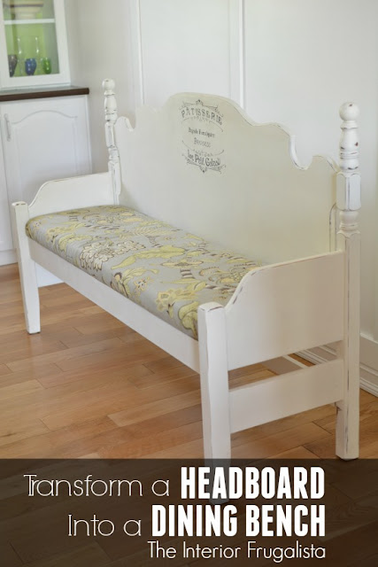 Headboard and Footboard transformed into a dining bench