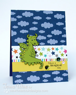 Dragon card by Tessa Wise using Magical Dreams Stamp set