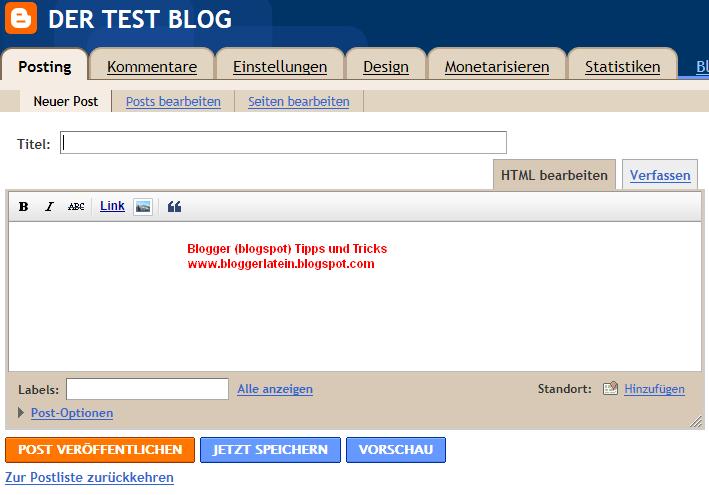 Blogger Blogspot Post löschen