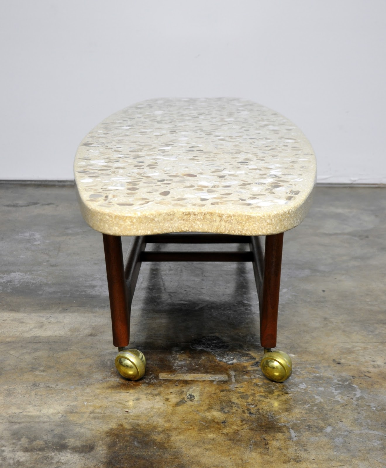 Select Modern Harvey Probber Terrazzo Surfboard Coffee Or Cocktail Table