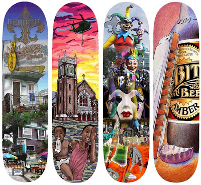 nola skate decks - deck art