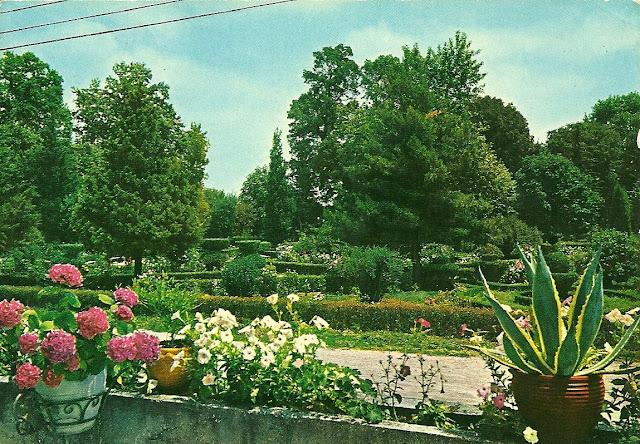 Το πάρκο των καταρακτών σε παλιά cart-postal
