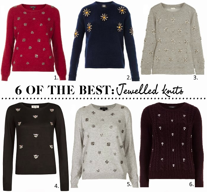 Jewelled embellished jumpers sweaters