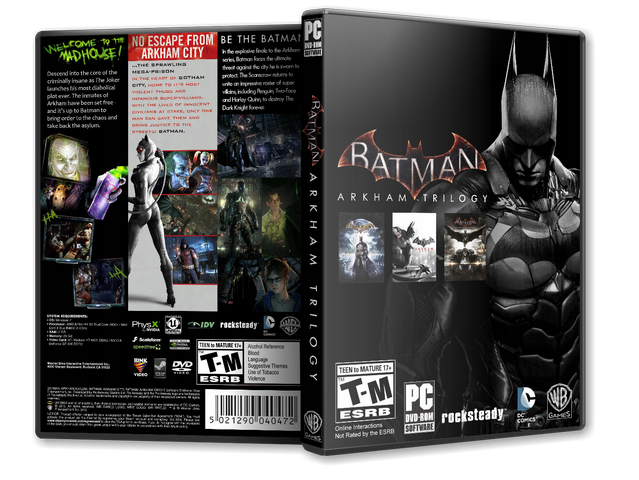 Capa Batman Arkham Trilogy PC