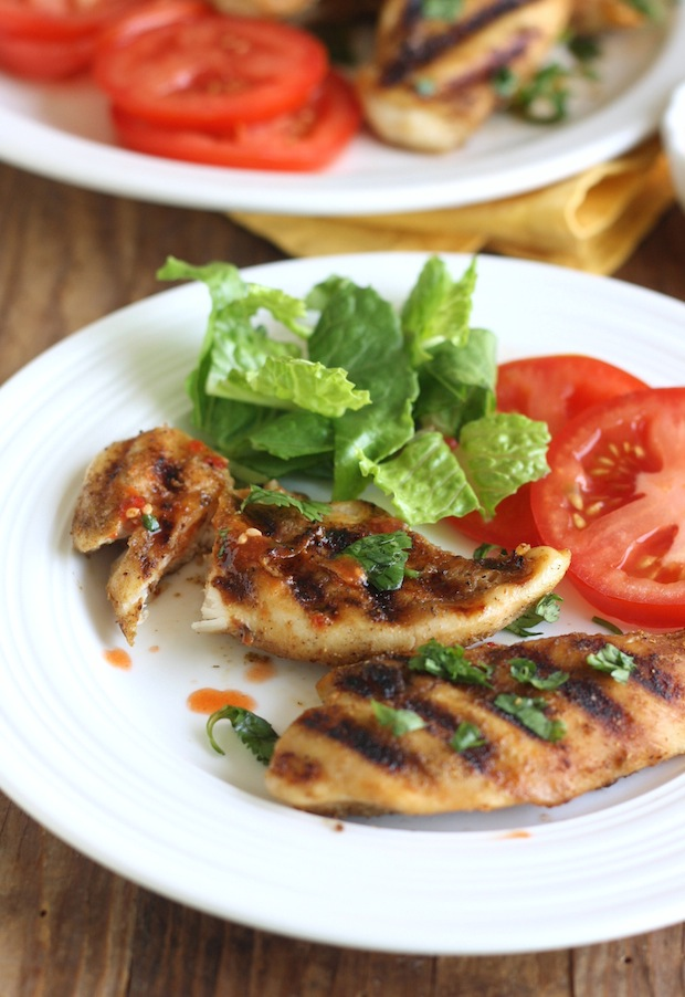 Thai Grilled Chicken recipe with Sweet Chili Dipping Sauce by SeasonWithSpice.com