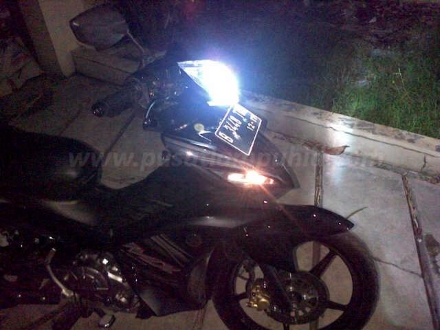 Jupiter MX dengan Lampu HID Motor XENON RICHTER putih 6000k