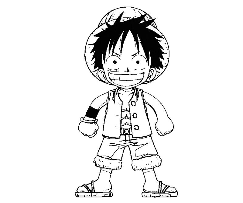 how to draw luffy full body