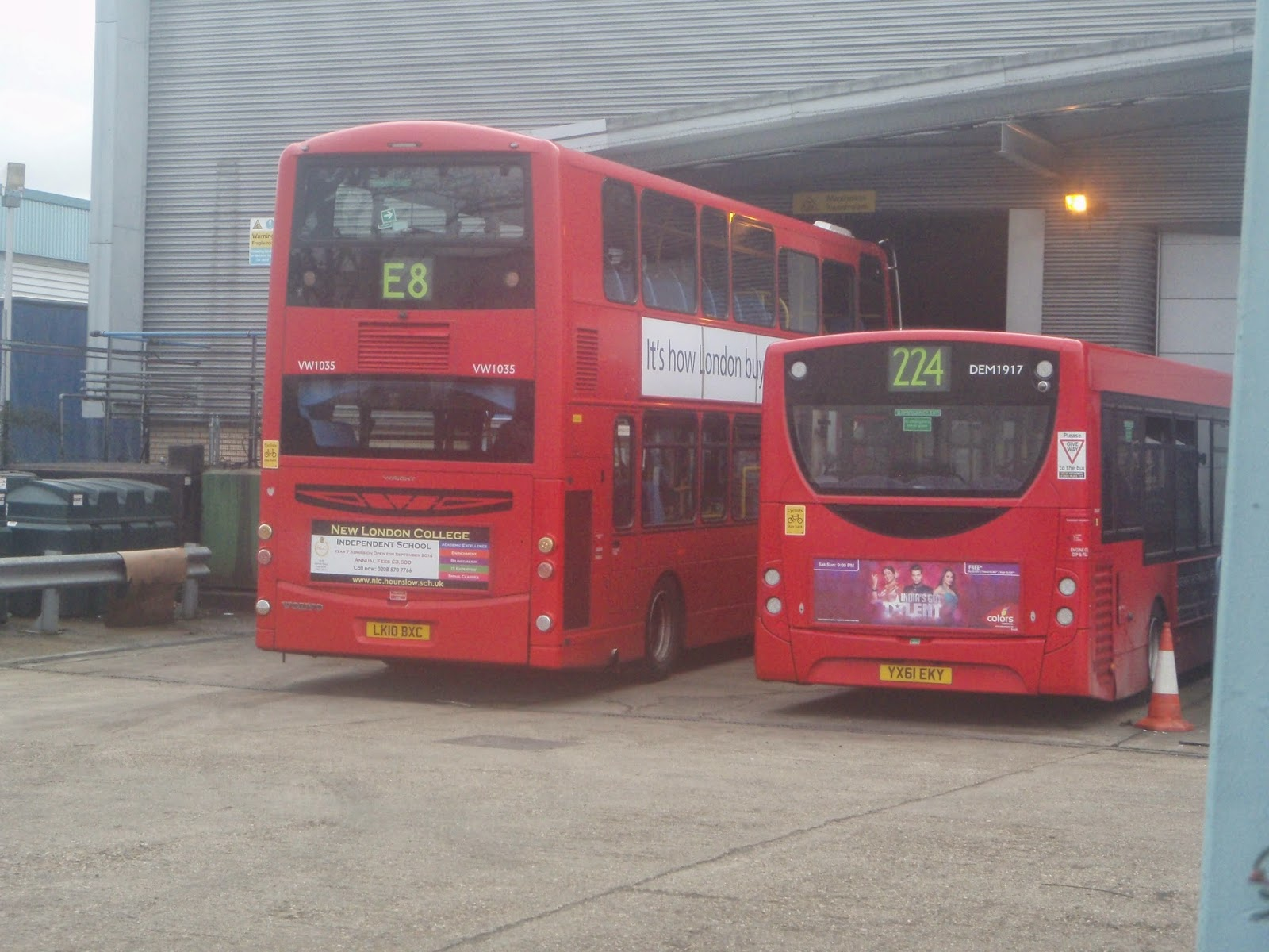 london buses on the go: metroline celf centre: spring 2014