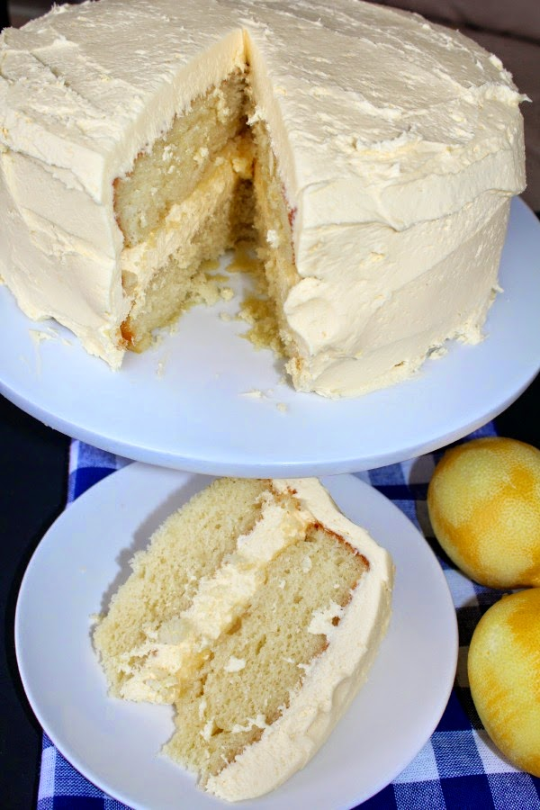 Lemon Velvet Cake with Lemon Buttercream Frosting recipe