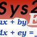 Sys2E. Sistemas de 2 ecuaciones lineales paso a paso