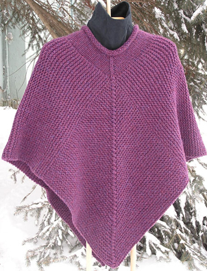 How To Knit A Poncho For Beginners Pattern : Knitting at Large: A treasure trove of plus-sized patterns