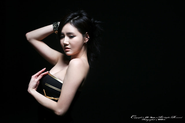 1 Han Ga Eun in Black Mini Dress - very cute asian girl - girlcute4u.blogspot.com