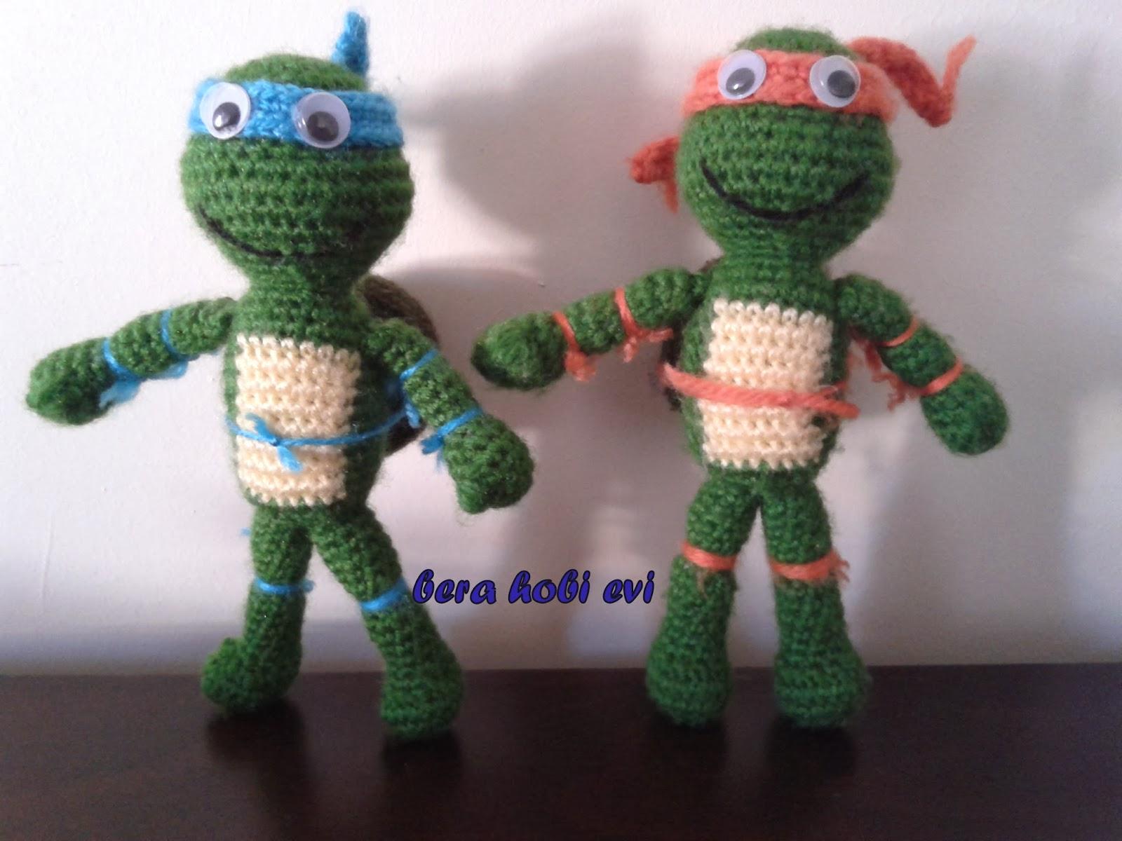 BERA HOB? EV?: amigurumi bebek ve ninja kaplumba?a