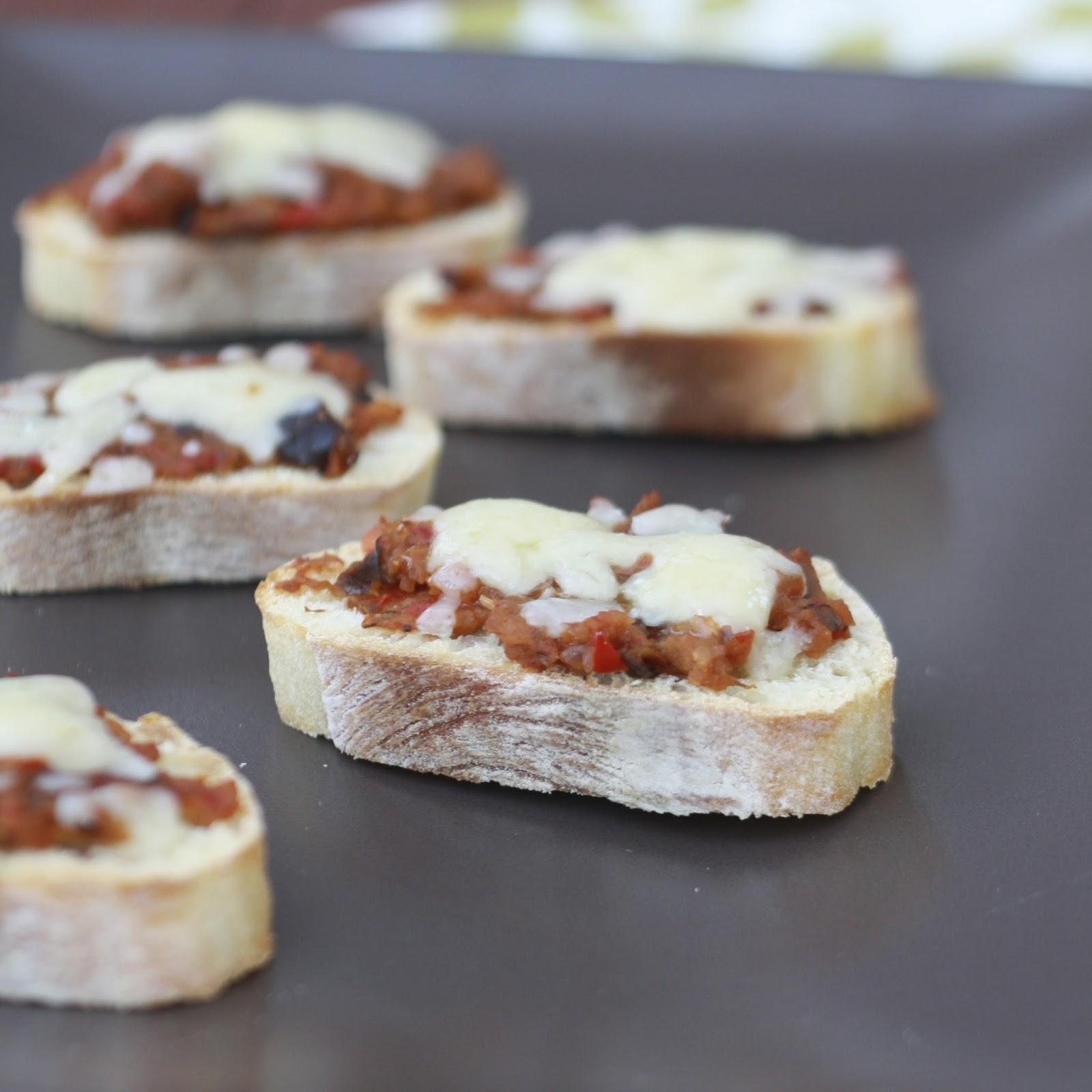 Crostini with Roasted Vegetable Spread and Havarti | The Sweets Life