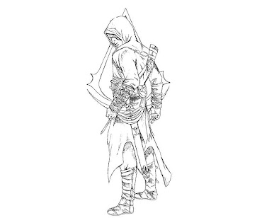 #12 Assassin's Creed Coloring Page