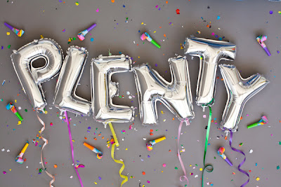 type made from mylar balloons