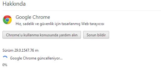 Google Chrome 30 Güncelleme
