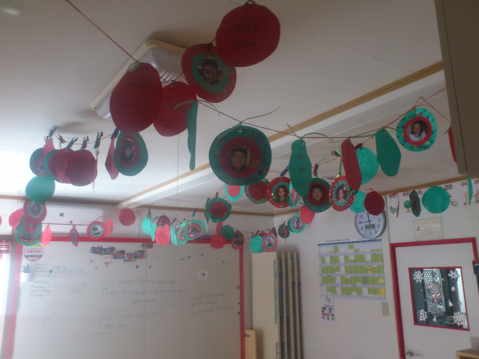 Classroom Ideas For Christmas : Hyotenka christmas decorations in the classroom december