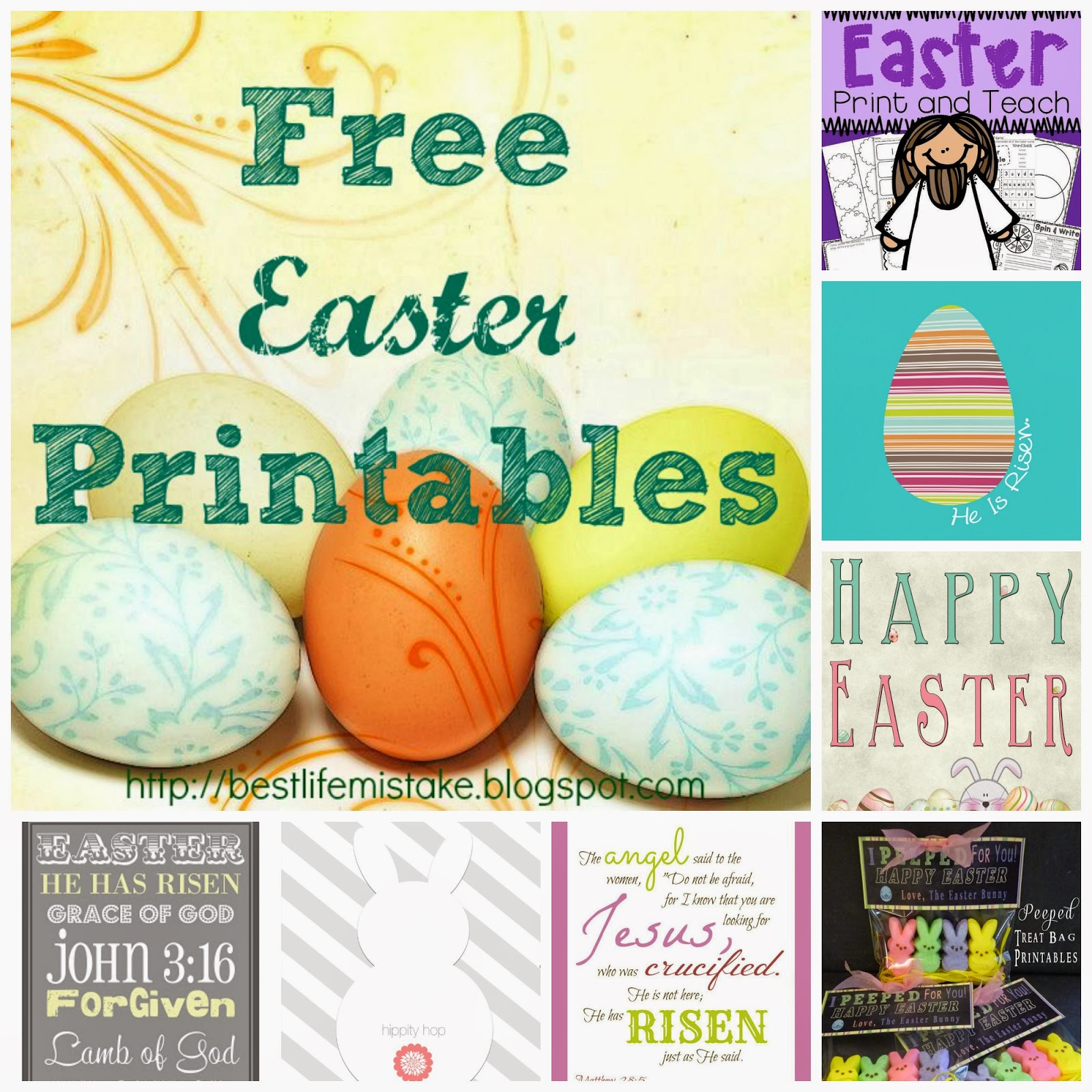 Free Easter Printables  Cozy Reading Spot Feature  {Reading List}