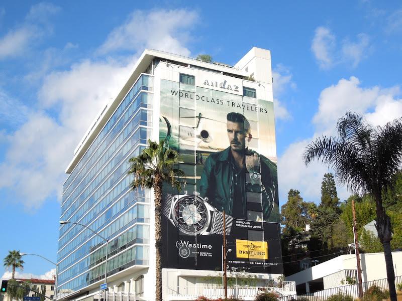 David Beckham Breitling watch billboard Sunset Strip