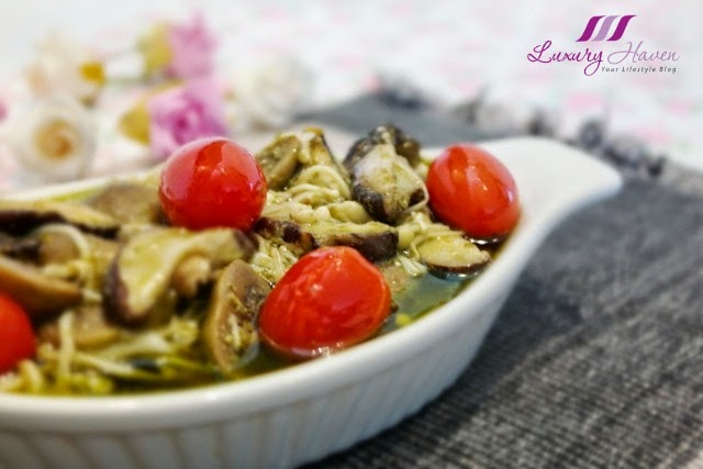colourful italian pesto mushrooms appetizer recipe