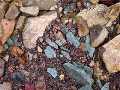 colorful rocks in glacier