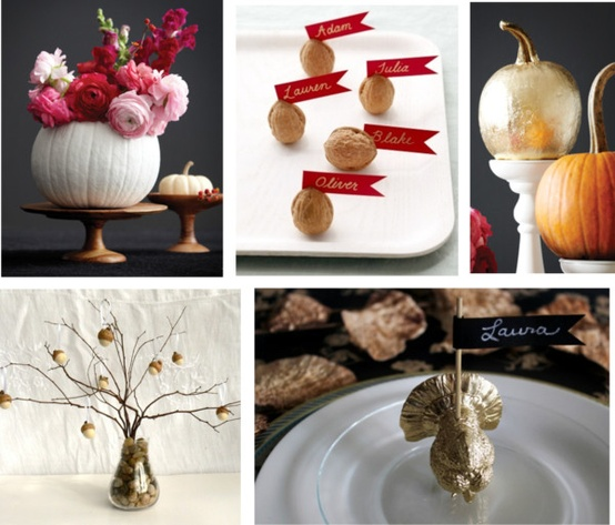 a roundup of festive diy decor for your thanksgiving table