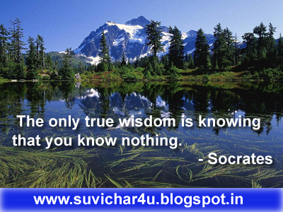 The only true wisdom is knowing that you know nothing. By Socrates