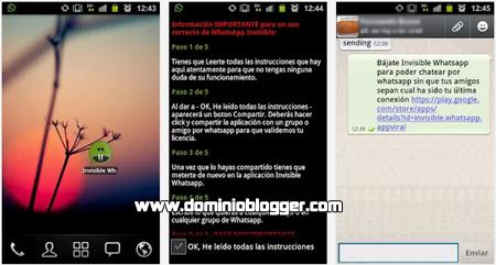 Invisible WhatsApp gratis para Android