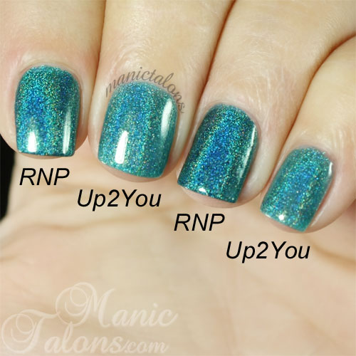 KBShimmer Up and Cunning and Up2You Comparison