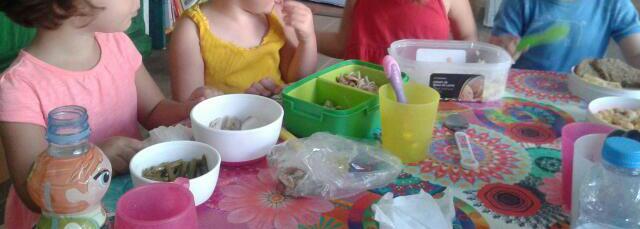Y luego volvemos al nido a comer
